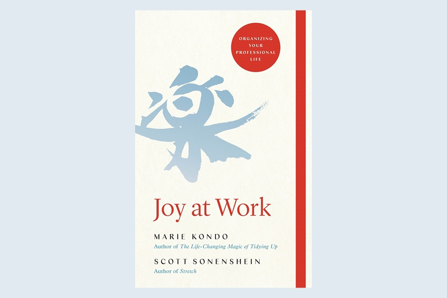 Joy at Work is a new book by Marie Kondo about using the KonMari method for productivity