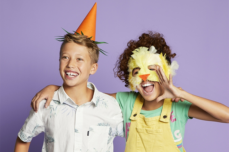 Art and craft ideas for kids: Easter carrot hat and chick mask