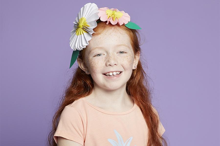 DIY easter hat ideas: paper flower crown