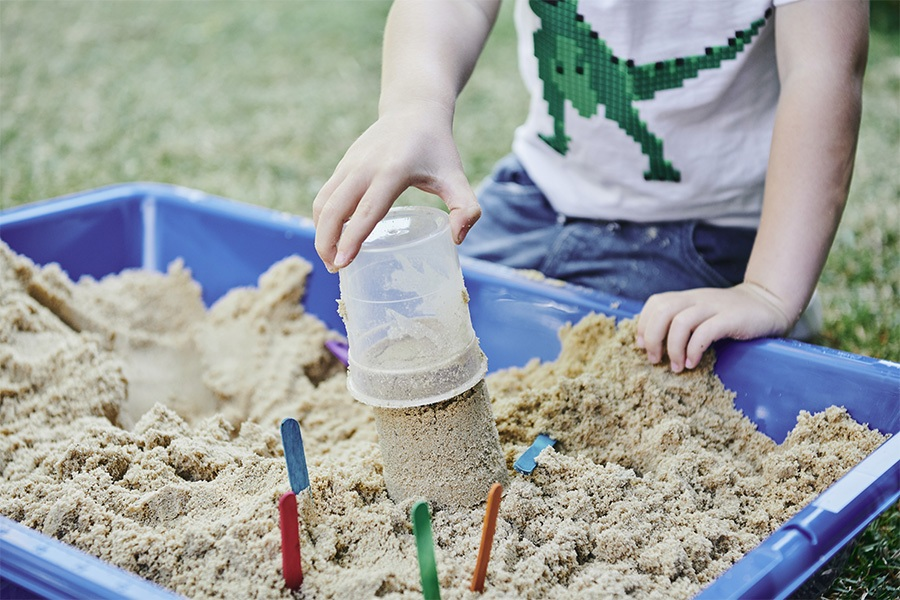 Free play outdoors encourages a sense of adventure