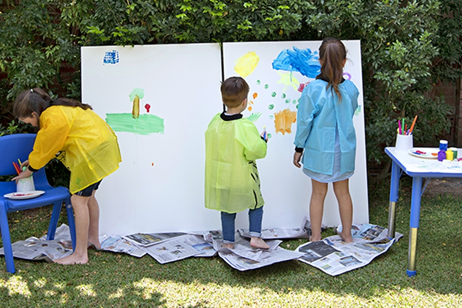 Painting is good for kids and encourages the development of fine motor skills