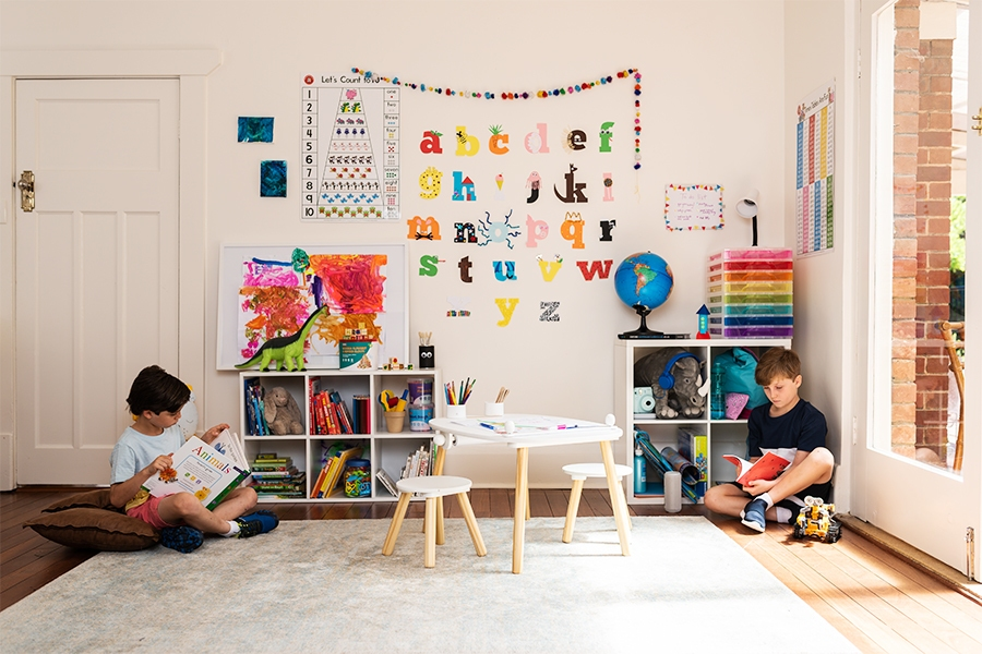Keep kids entertained at home with a reading corner