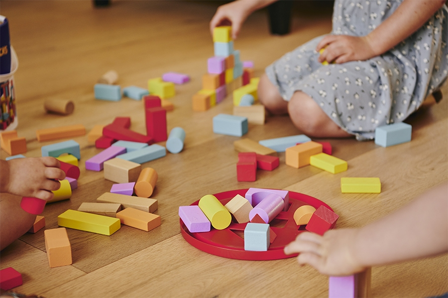 Keep kids busy at home with wooden blocks