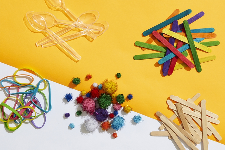 Officeworks arts and crafts materials for at-home STEM activities