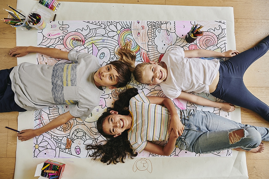Colouring in offers therapeutic benefits for young children