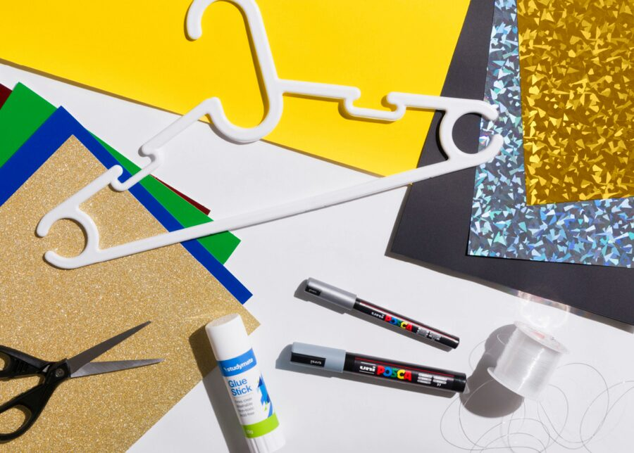 Kids craft supplies to make an easy DIY galaxy
