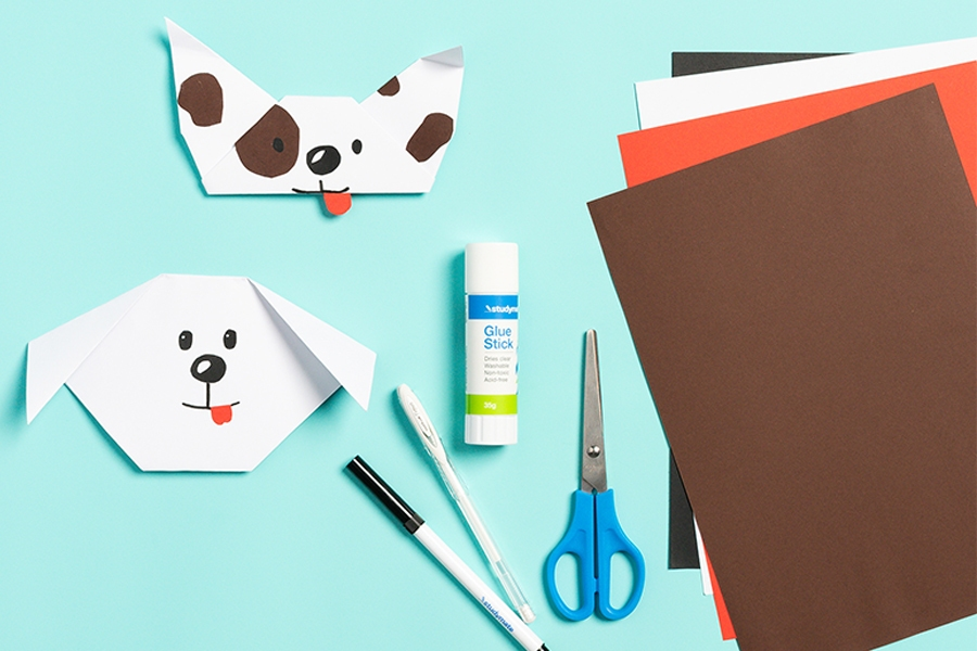 Officeworks craft materials for origami craft projects