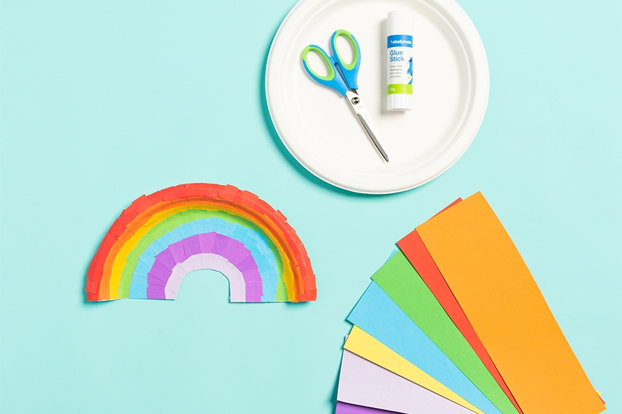 Officeworks craft materials for craft projects: paper plates and paper