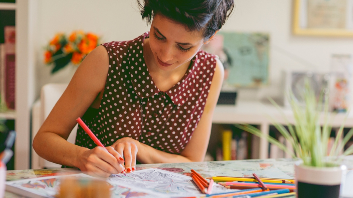Mindful colouring for adults is a great way to ease stress and unleash your creativity