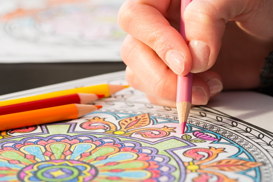 Colouring in books can help you unwind by forcing you to focus on the task at hand