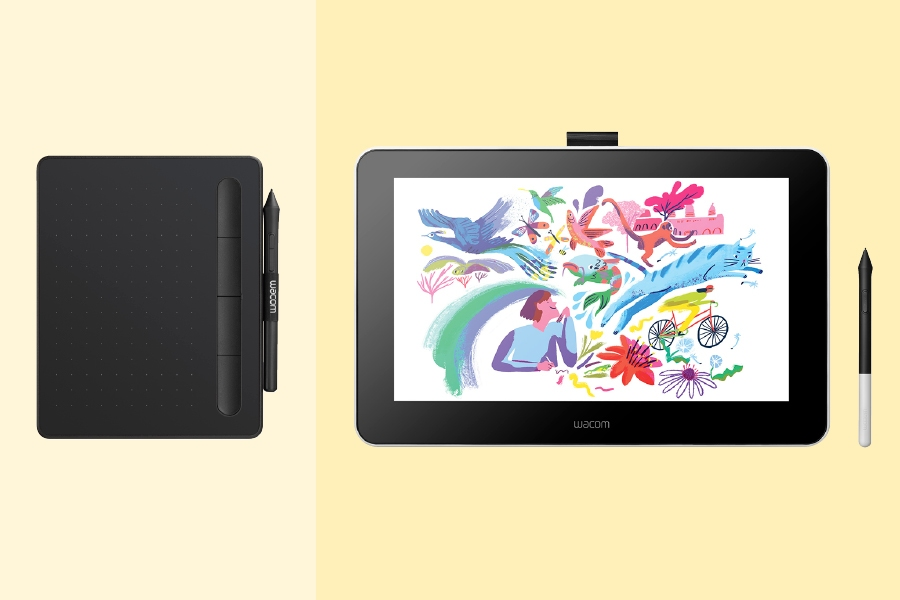 A Wacom tablet is a key accessory for digital drawing and illustration.