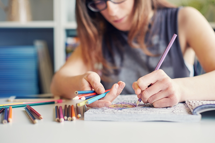Colouring in is a great way to get into your flow and achieve a hyper-relaxed state.