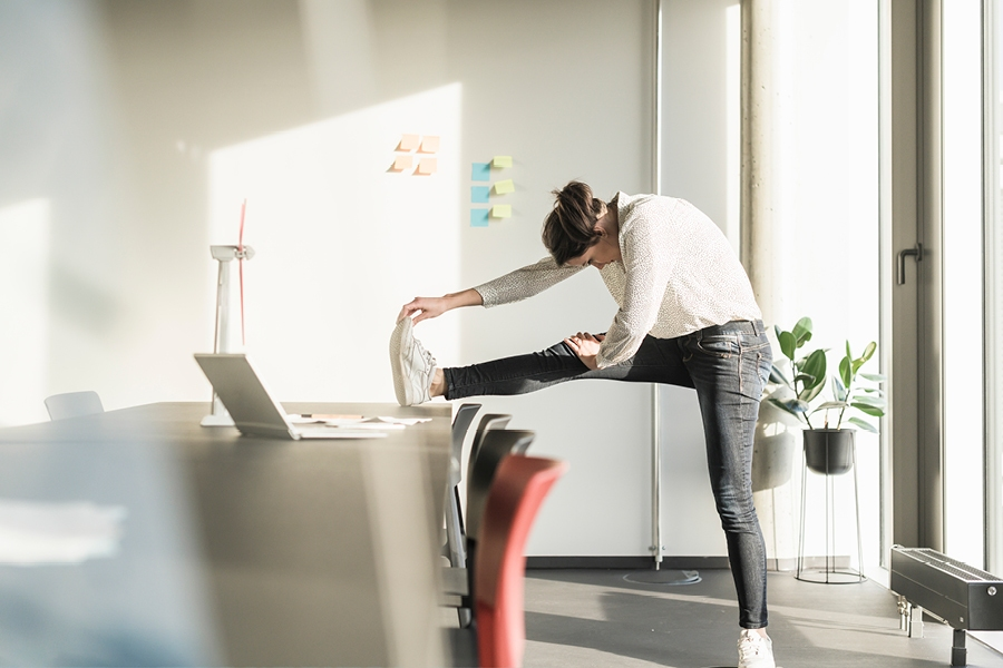 It is good to stretch and move every 20 minutes when working from home.