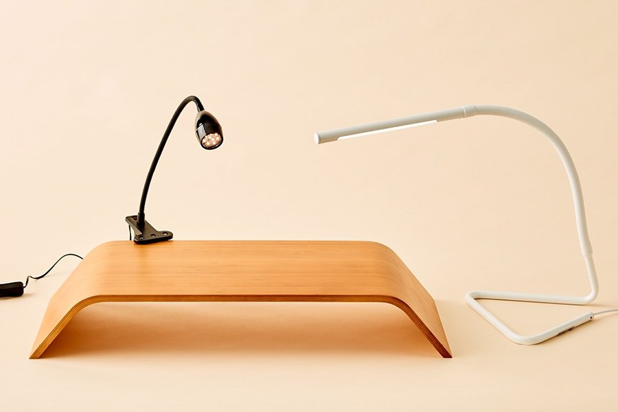 Top small home office idea: if there is little natural light, add a desk lamp.