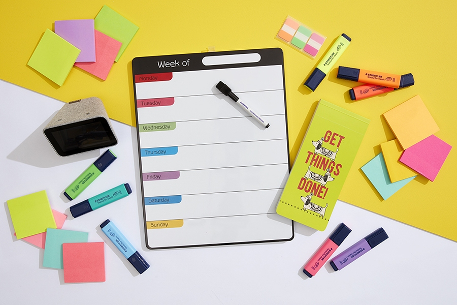 Get kids organised using to-do lists, Post-its, pens and highlighters