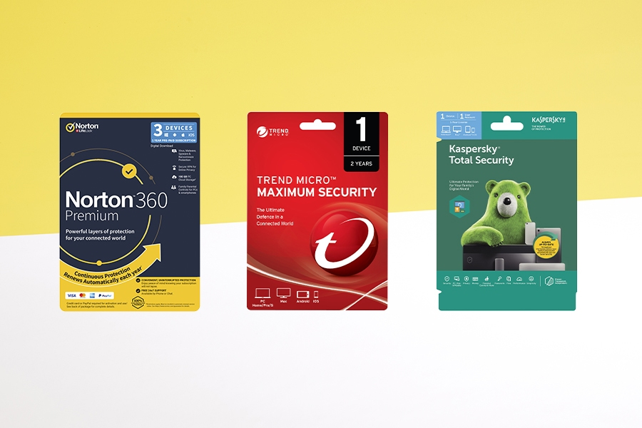 Officeworks security software range