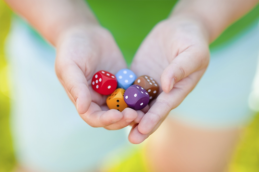 Fun dice games and activities for kids to play at home to learn important STEM skills