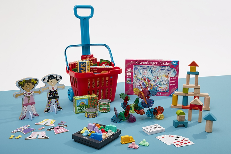 Kids can benefit from playing with educational toys and games while learning at home