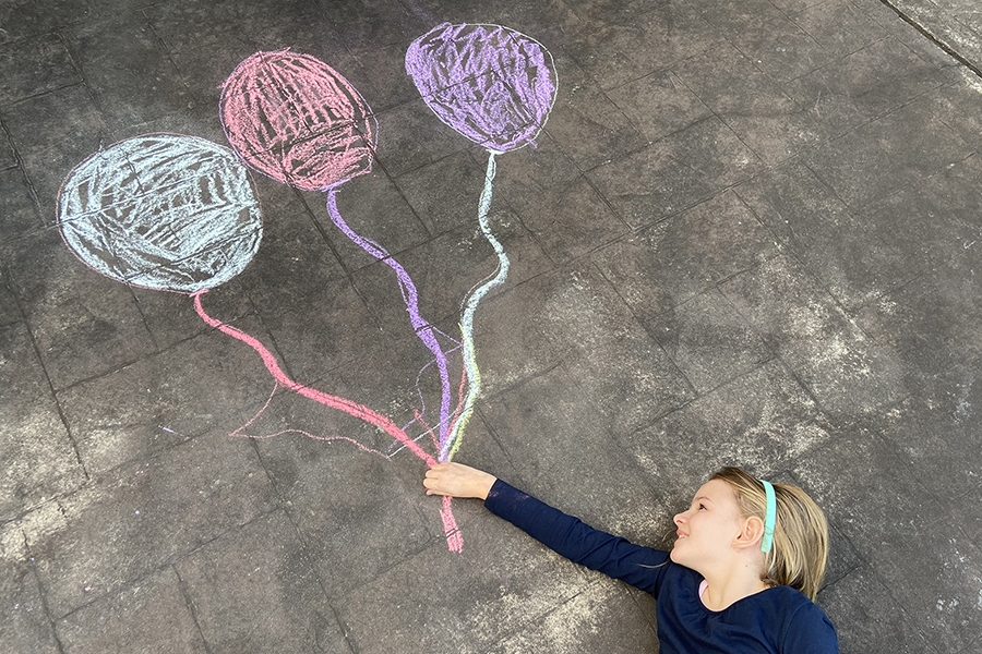 Creative Instagram friendly chalk art ideas for kids to have fun with at home.