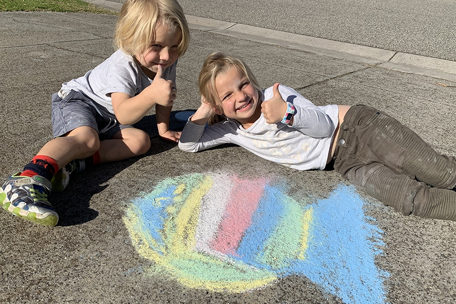 Younger kids will love creating these super easy animal chalk art drawings.