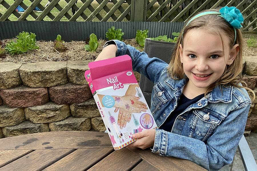 Ready made projects like a nail art kit is another fun craft activity for girls.