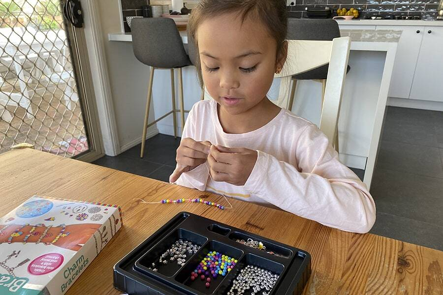 Bead craft kits for girls are super easy and fun to do at home.