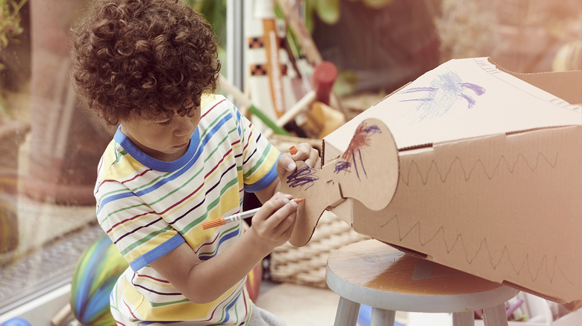 Easy art and craft ideas to keep younger kids entertained at home