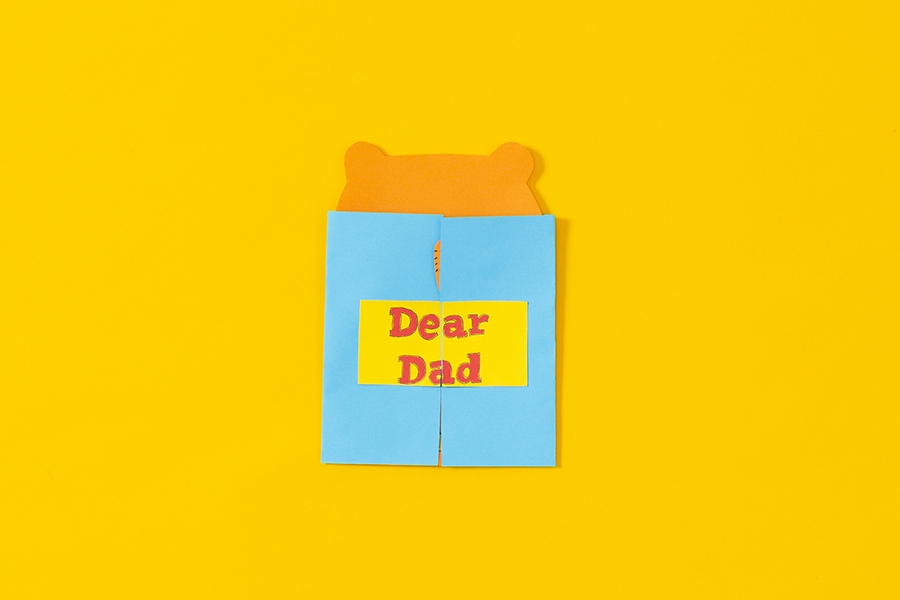 Cute DIY Father's Day card and message ideas for kids to make for dad.