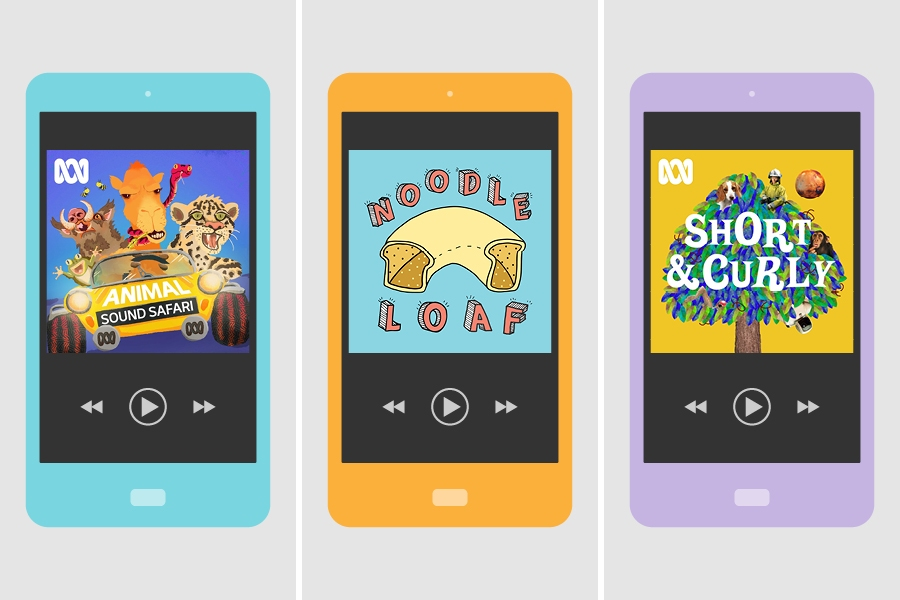 Top podcasts popular with kids include Animal Sound Safari, Noodle Loaf and Short & Curly