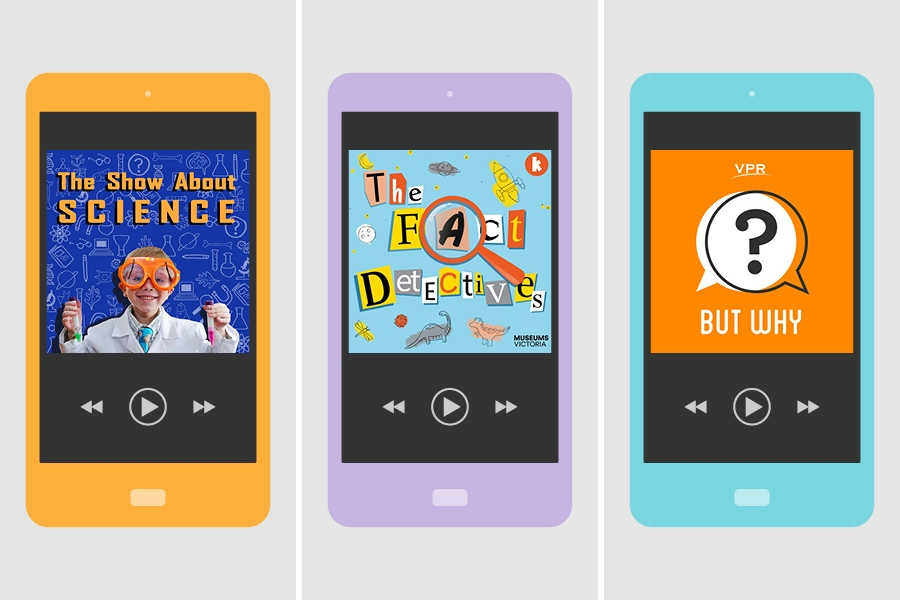 Top science and education podcasts for kids include The Fact Detectives and But Why.