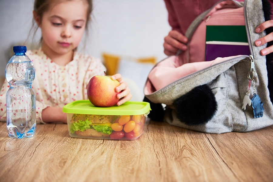 Making preschoolers familiar with their lunch box is a key part of getting ready for big school