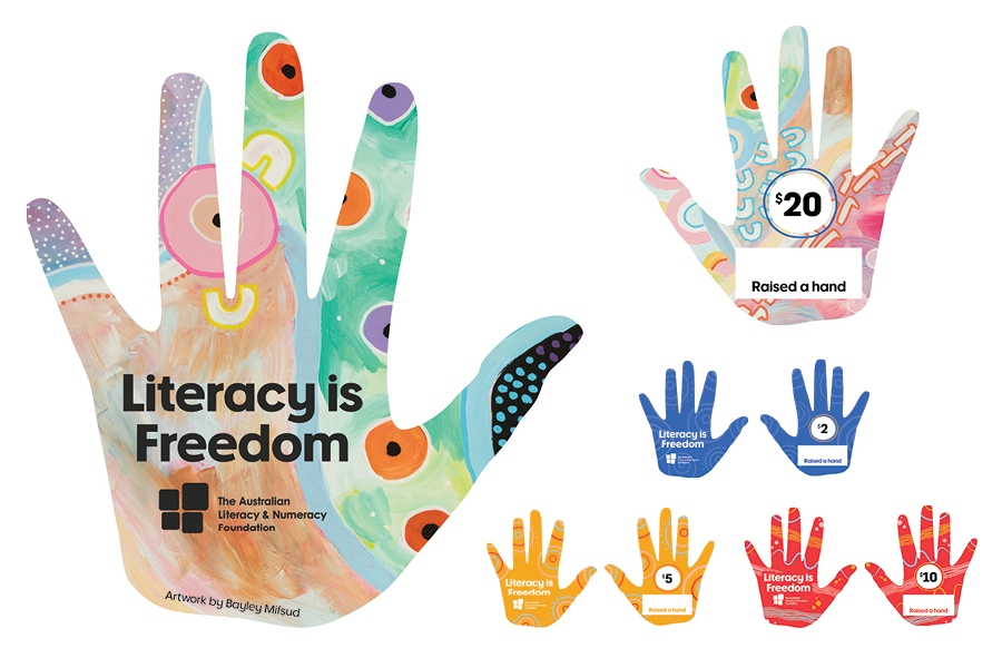 Officeworks Wall of Hands fundraiser supports Indigeneous literacy programs.