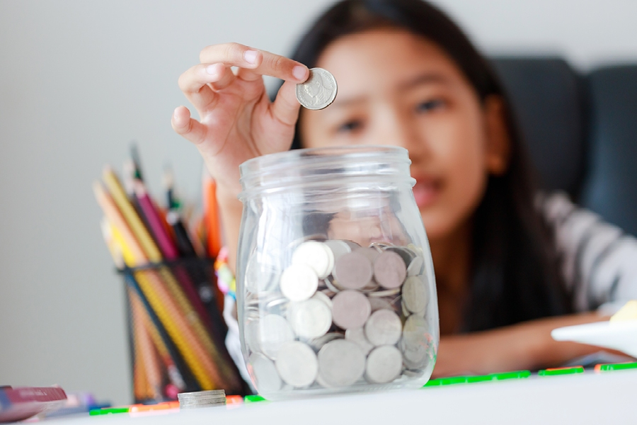 Encouraging kids to donate dedicated savings to a charity is meaningful community contribution