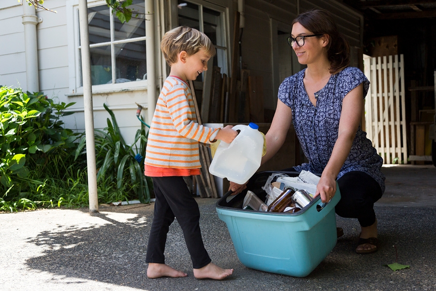 Kids can make a difference by making green choices like recycling and reusing.