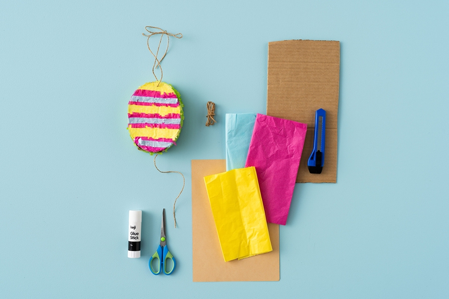 You'll need tissue paper – and lollies! – to make this easy Easter craft for kids