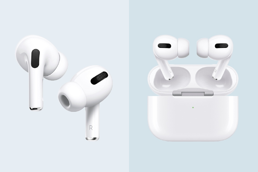 Stylish noise-cancelling headphones: Apple AirPods Pro with Wireless Charging Case