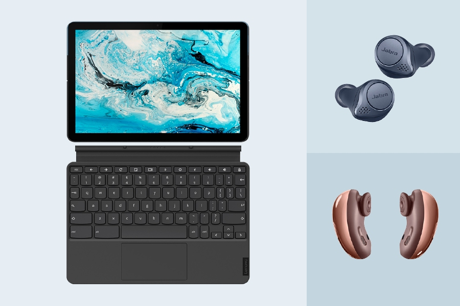 Cool tech gadgets for 2021 include the latest wireless earbuds and a tablet/laptop hybrid.