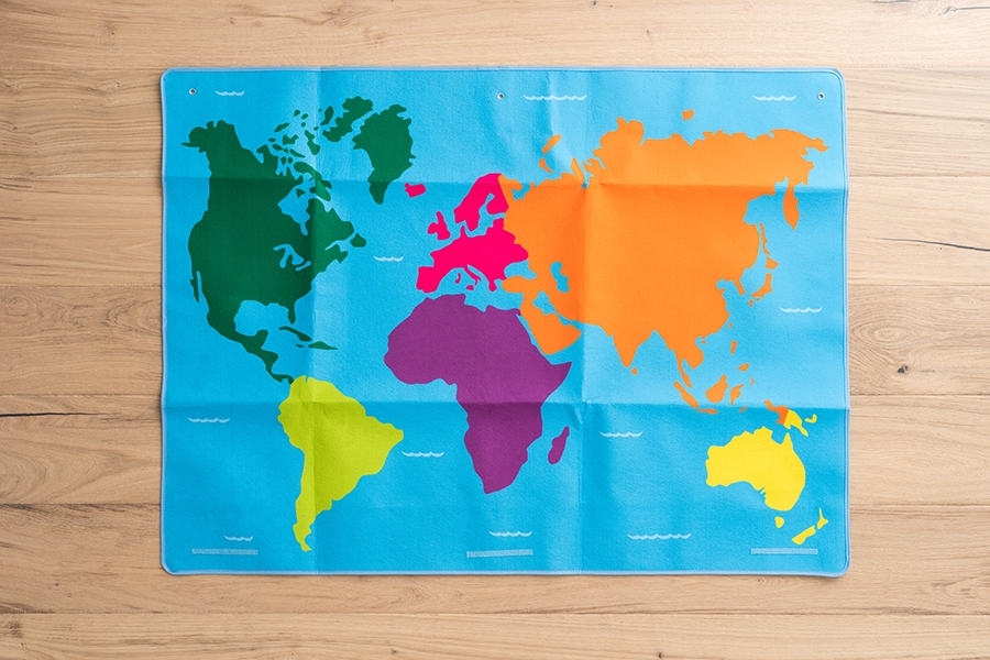 World map activities for kids