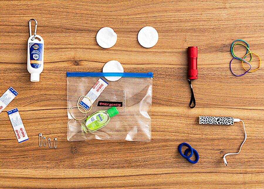 School bag emergency kit