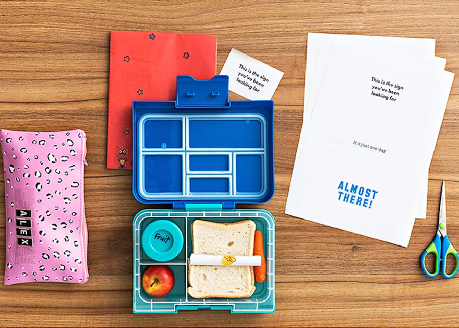 Kids craft project: lunch box notes