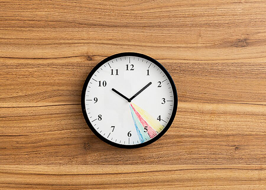 DIY coloured in clock