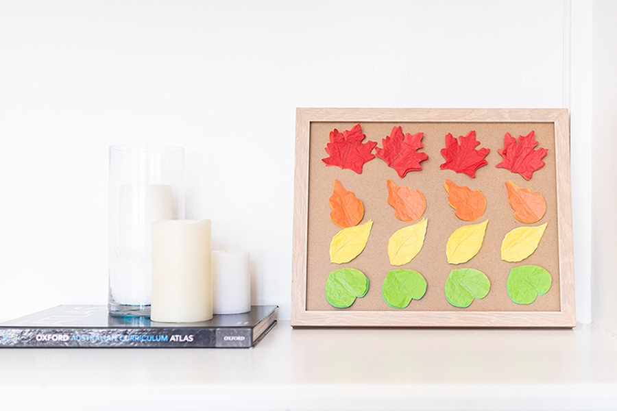 How to make autumn leaves art for kids