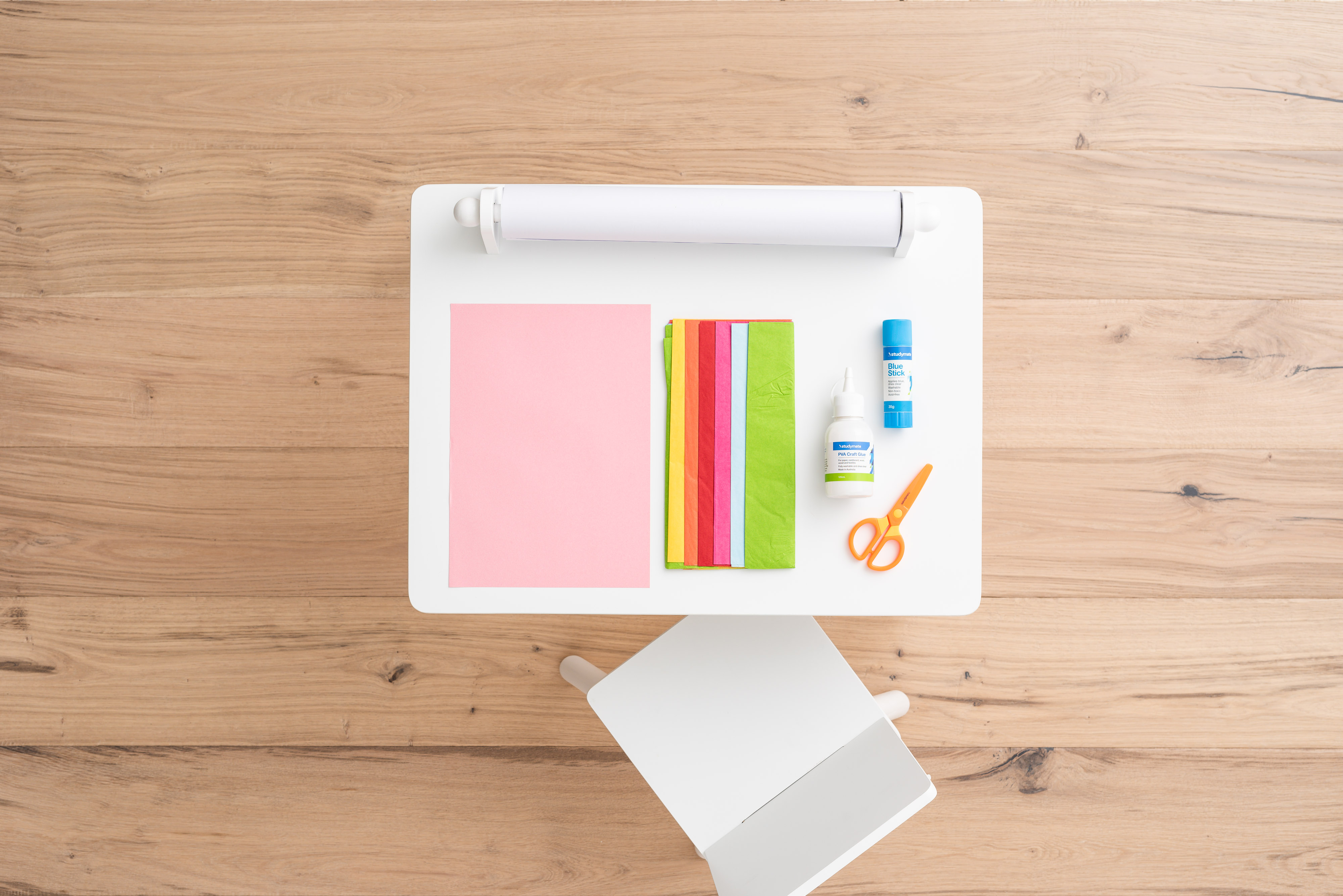 Officeworks art and craft supplies for making a homemade Mother's Day card
