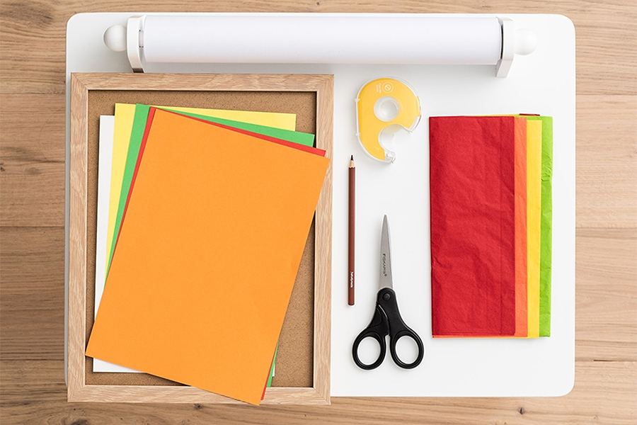 Officeworks art and craft materials for autumn leaves project