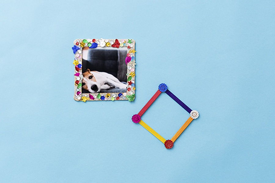 Easy DIY project for kids: photo frame