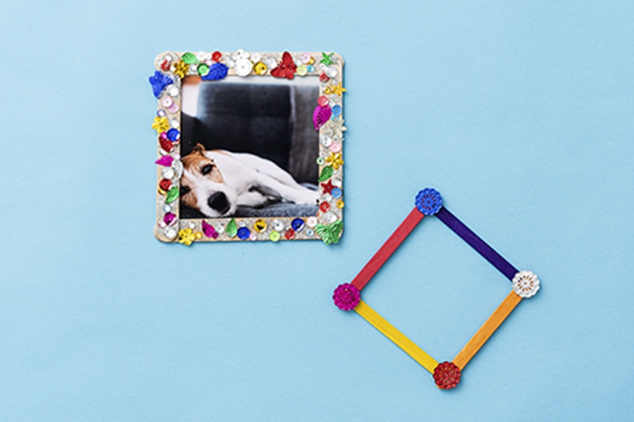 Art and craft ideas for kids: popsicle picture frames