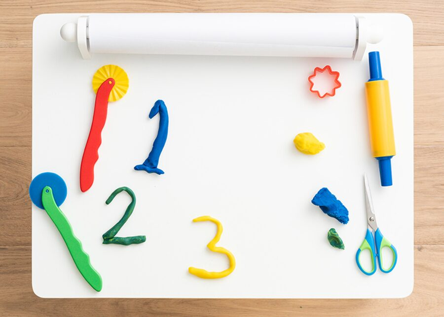 Playdough numbers to measure and count