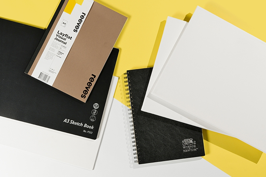 Officeworks kids painting supplies: sketchbooks and visual journals