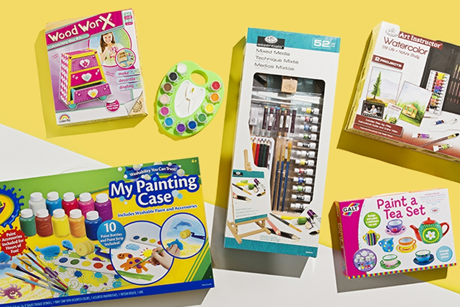 Officeworks kids watercolour paints and painting activities