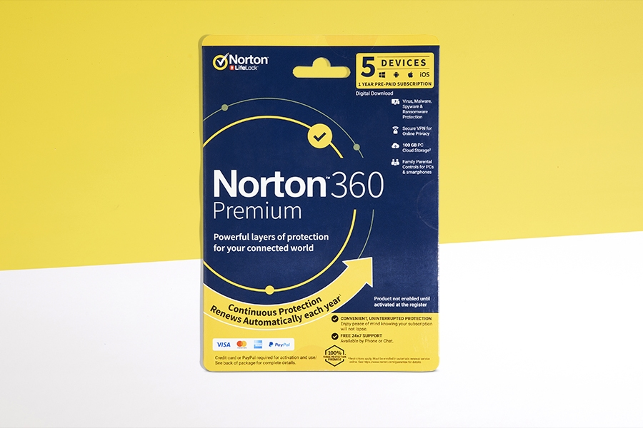 Norton 360 Premium 5 Devices 1 Year Download